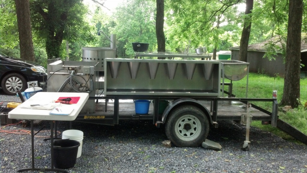 Chicken processing trailer