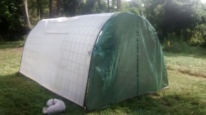 The hoop house, rear view